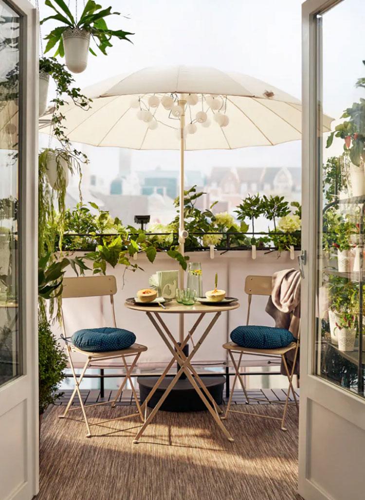 Ideas for decorating an Ikea balcony n.05
