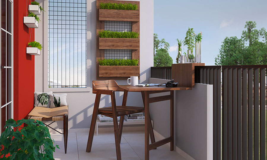 Ideas for decorating a balcony n.09