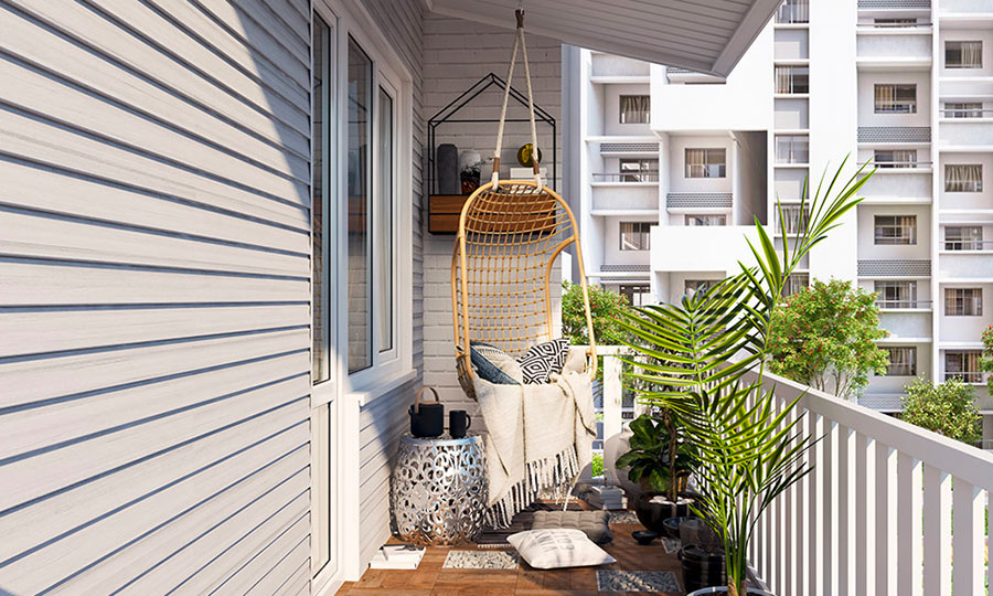 Ideas for decorating a balcony n.08