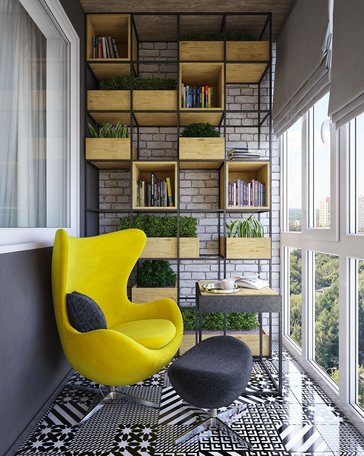 Ideas for decorating a small balcony n.01