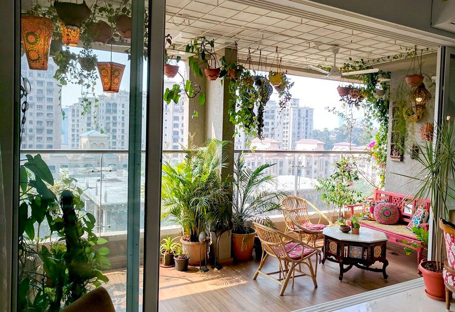 Ideas for decorating a balcony with plants n.06