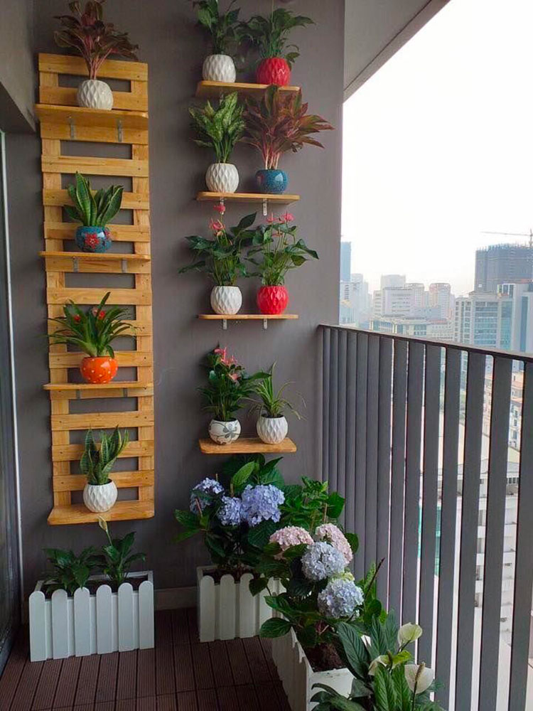 Ideas for decorating a balcony with plants n.07