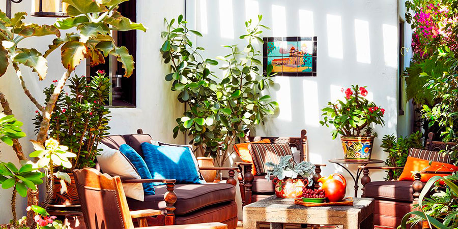 Ideas for decorating a balcony with plants n.02