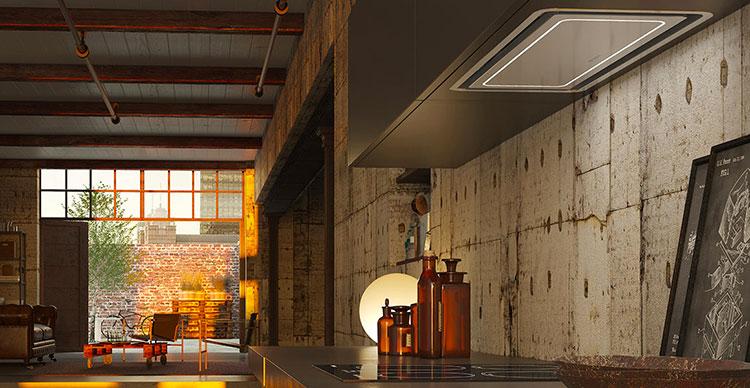 Modern kitchen hood model n.24