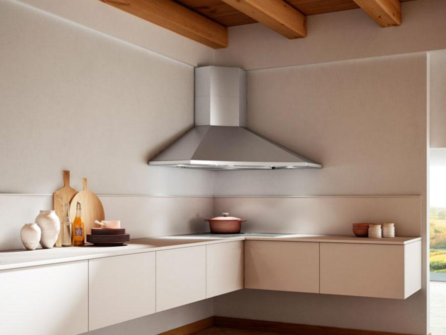 Modern corner kitchen hood model n.03
