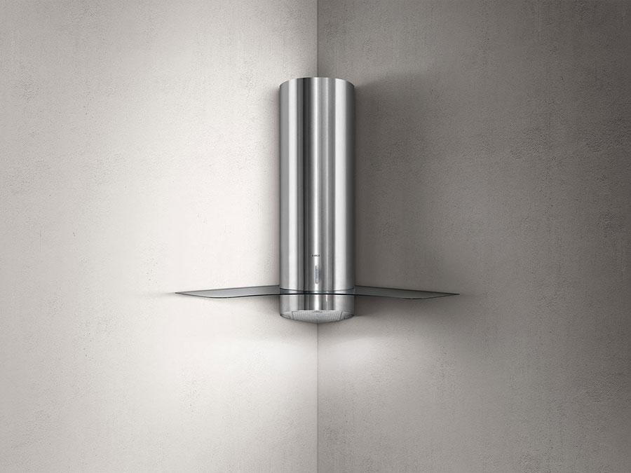 Modern corner kitchen hood model n.01