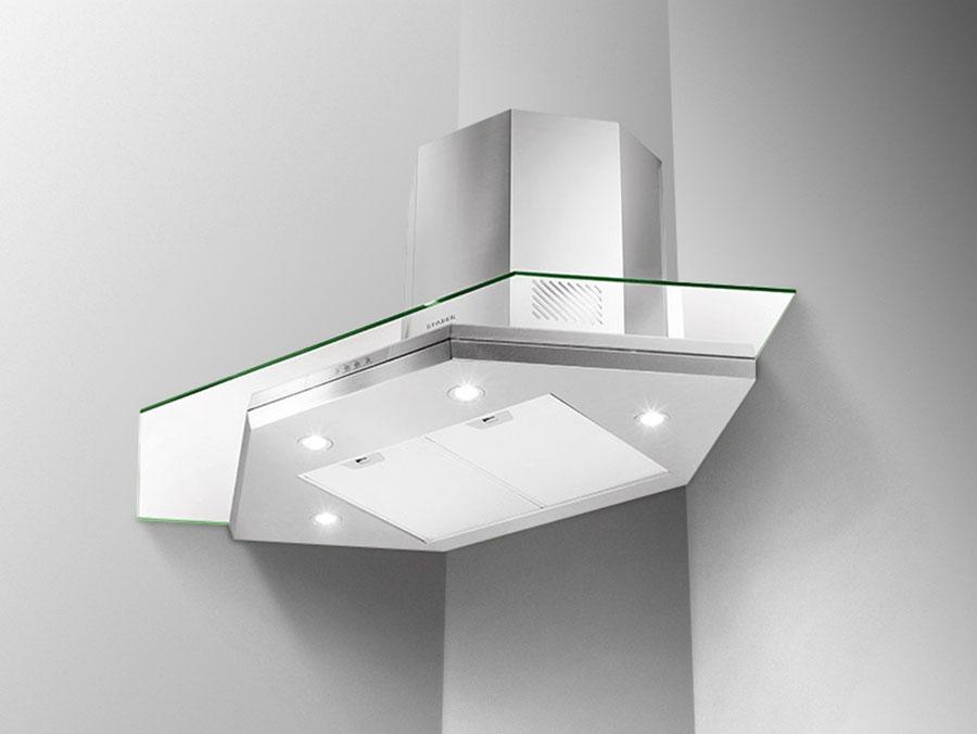 Modern corner kitchen hood model n.04