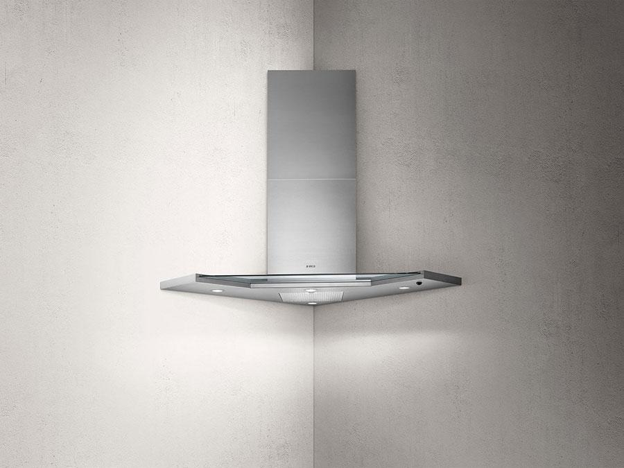 Modern corner kitchen hood model n.02