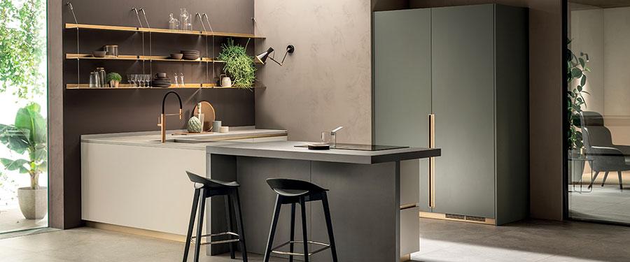 Kitchen model with open shelves n.01