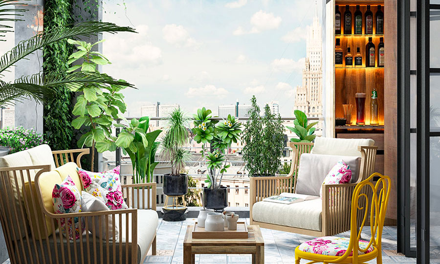 Ideas for decorating a balcony n.01