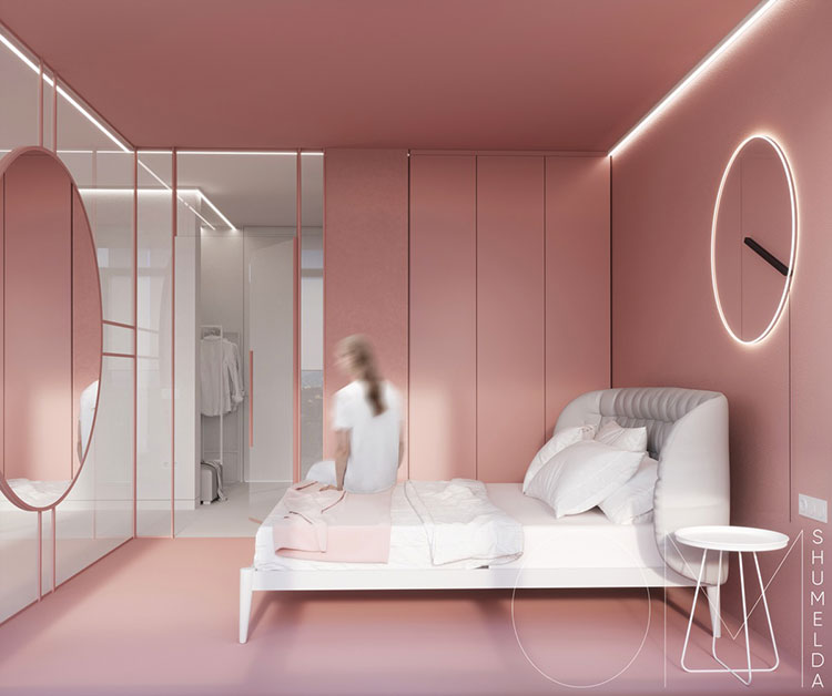 Ideas for decorating a pink bedroom # 03