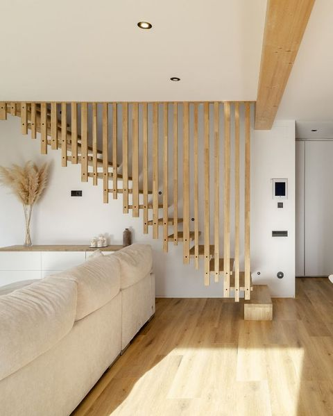the most sustainable house in europe is spanish stairs with wooden slats