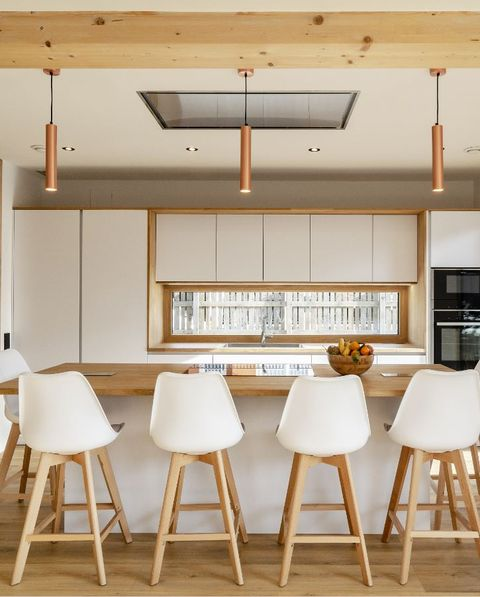 the most sustainable house in europe is spanish kitchen with island