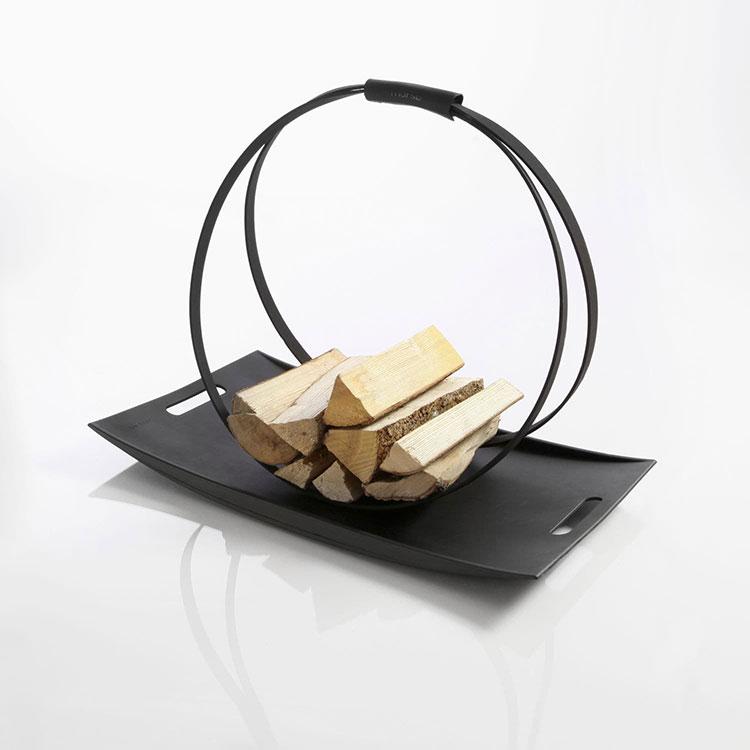 Indoor log holder model with modern design n.09