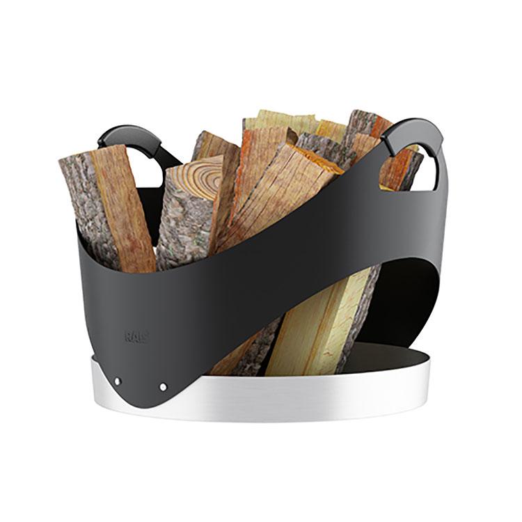 Indoor log holder model with a modern design n.14