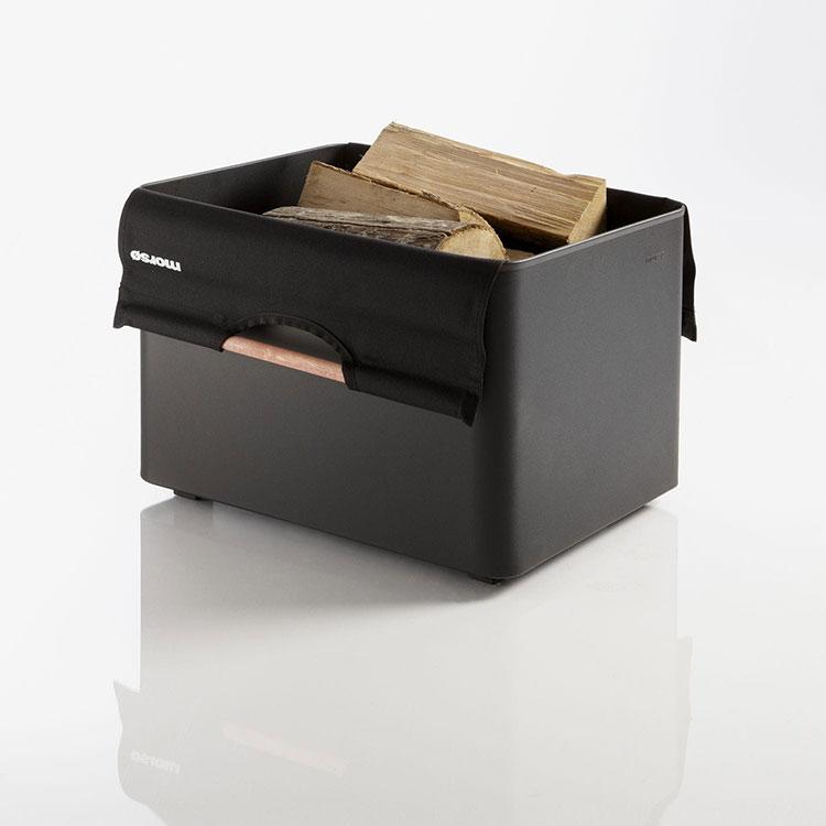 Indoor log holder model with a modern design n.10