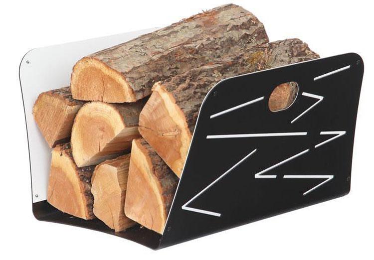 Indoor log holder model with a modern design n.18