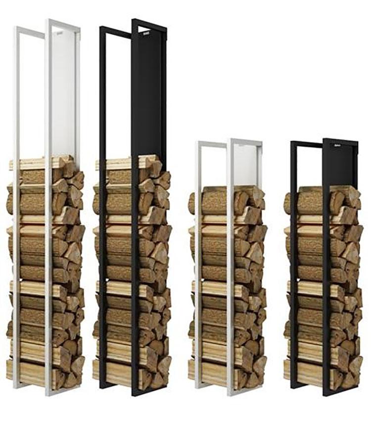 Indoor log holder model with a modern design n.15