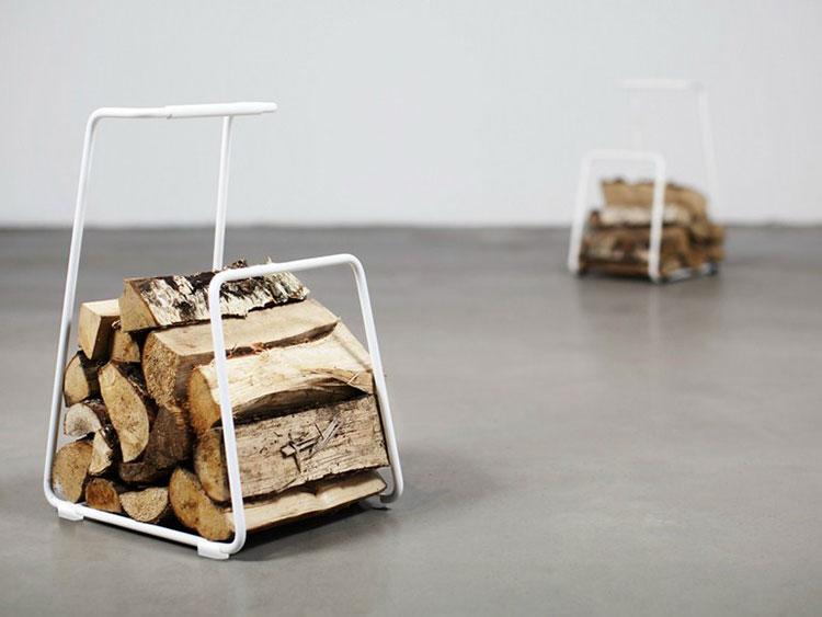 Indoor log holder model with modern design n.11