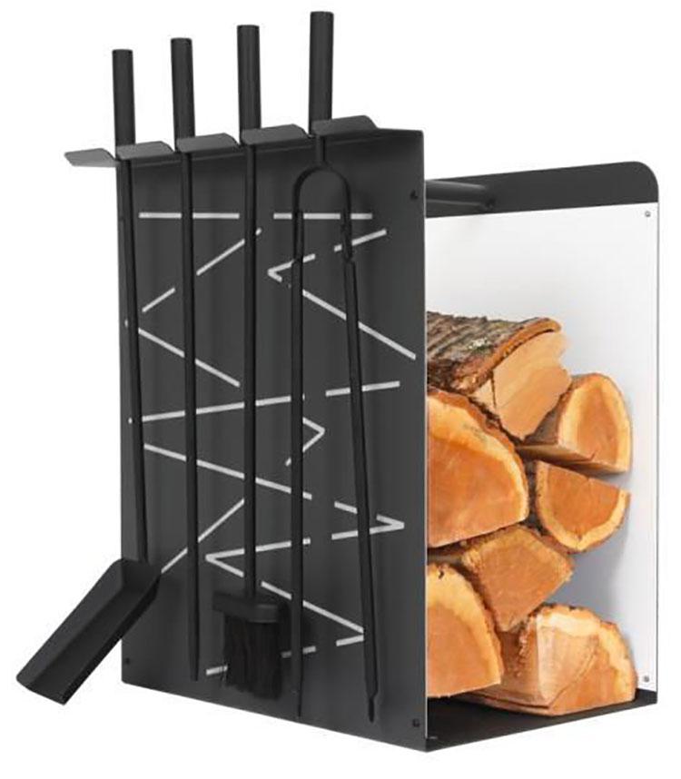 Indoor log holder model with modern design n.19