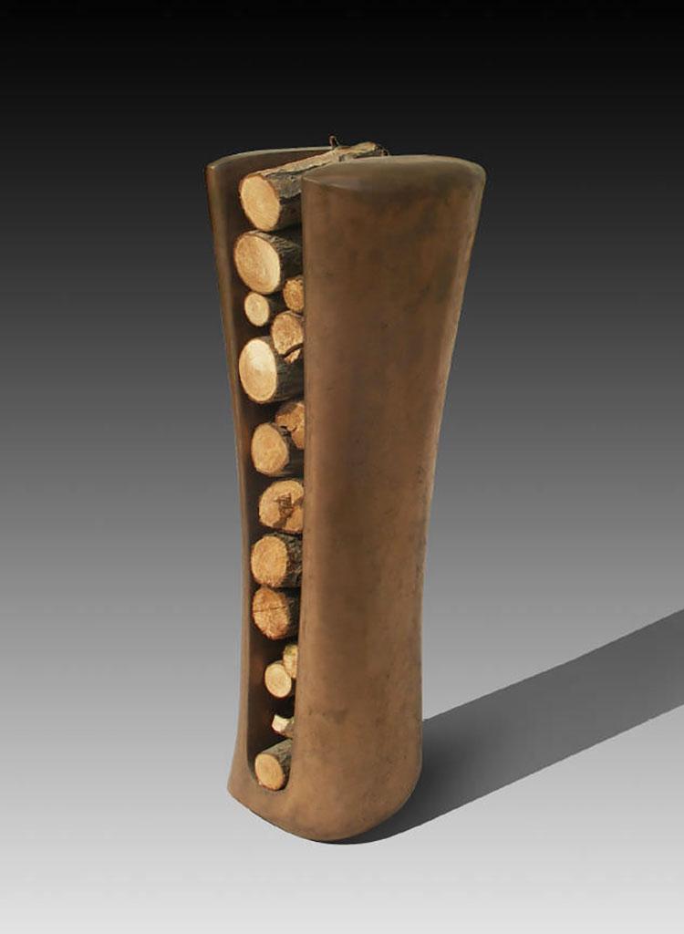 Indoor log holder model with a modern design n.26