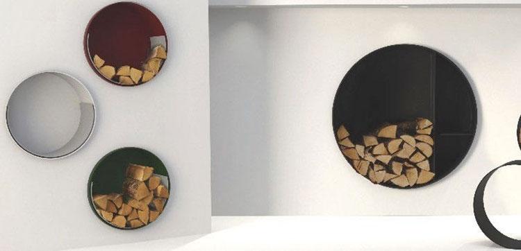 Indoor log holder model with modern design n.04