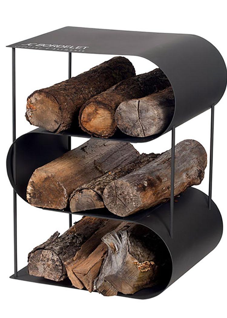 Indoor log holder model with modern design n.13