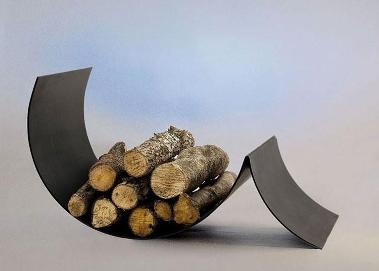 Indoor log holder model with modern design n.03
