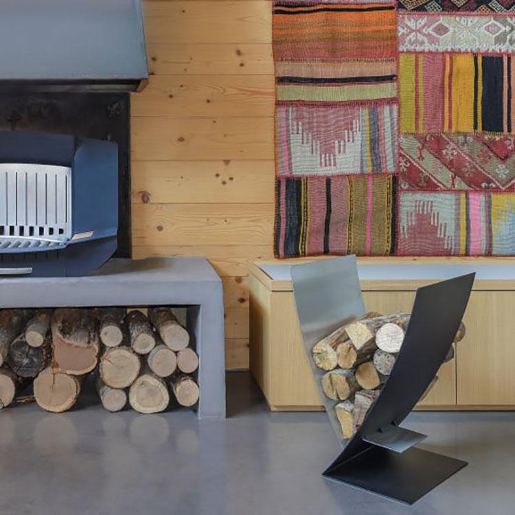 Indoor log holder model with modern design n.17
