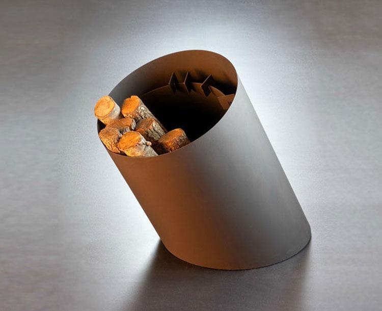Indoor log holder model with modern design n.02