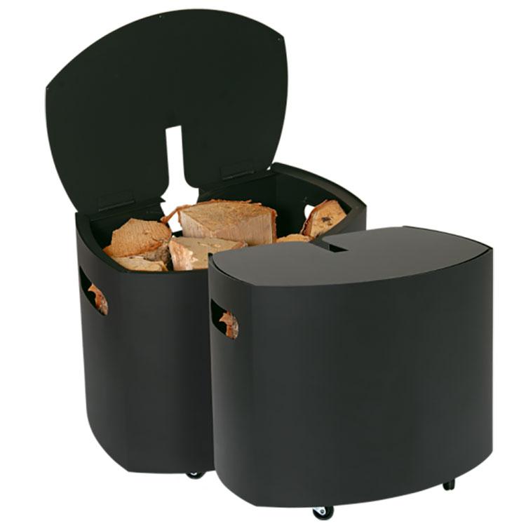 Indoor log holder model with a modern design n.24