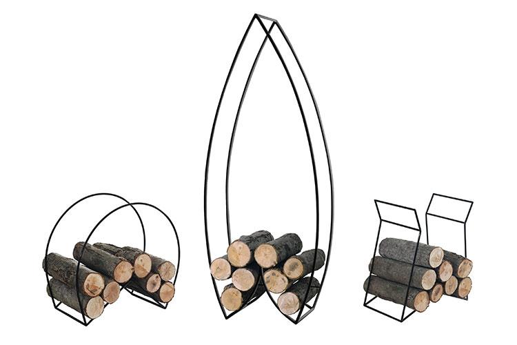 Indoor log holder model with a modern design n.29
