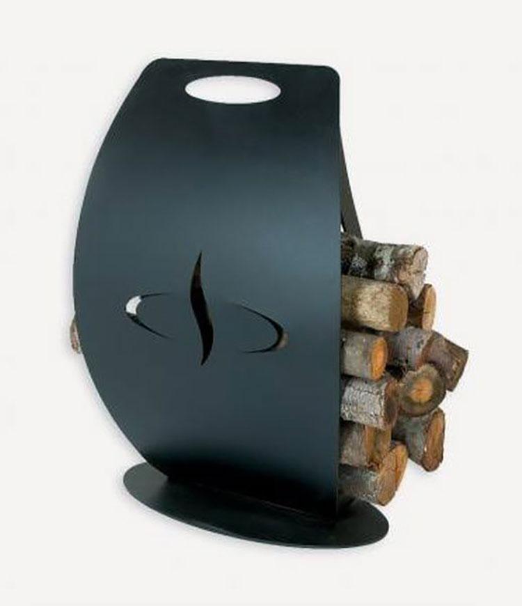 Indoor log holder model with a modern design n.27