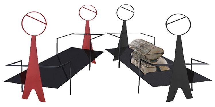 Indoor log holder model with a modern design n.30
