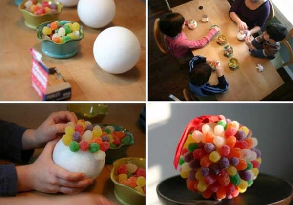christmas balls with candy