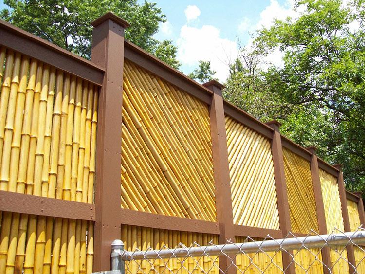 Bamboo design fence # 05