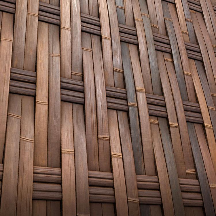 Braided Bamboo Fence Ideas # 03