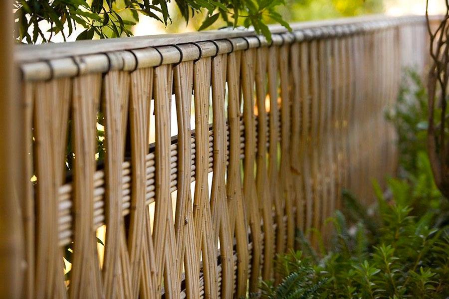 Braided Bamboo Fence Ideas # 05