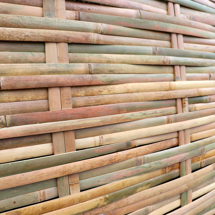 Woven Bamboo Fence Ideas # 04