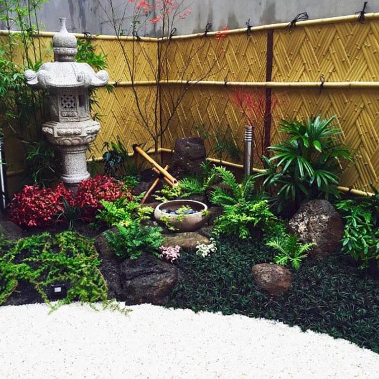 Woven Bamboo Fence Ideas # 01