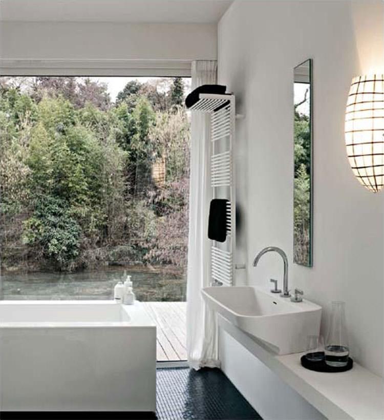 Bathroom radiator with modern design n.08