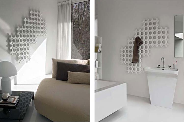 Bathroom radiator with modern design n.21