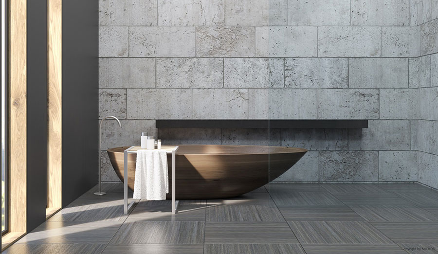 Oval free-standing wooden bathtub n.05
