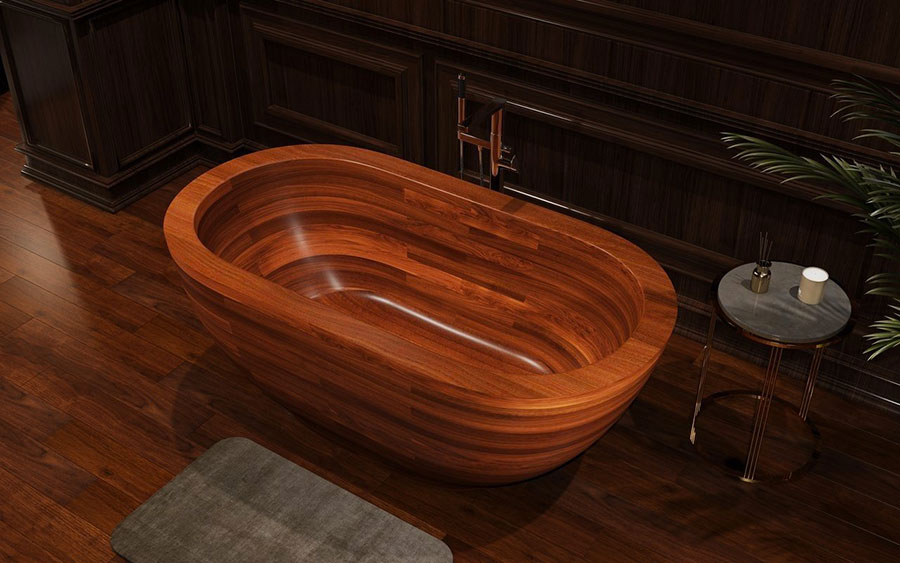 Aquatica Wooden Bathtub Model # 01