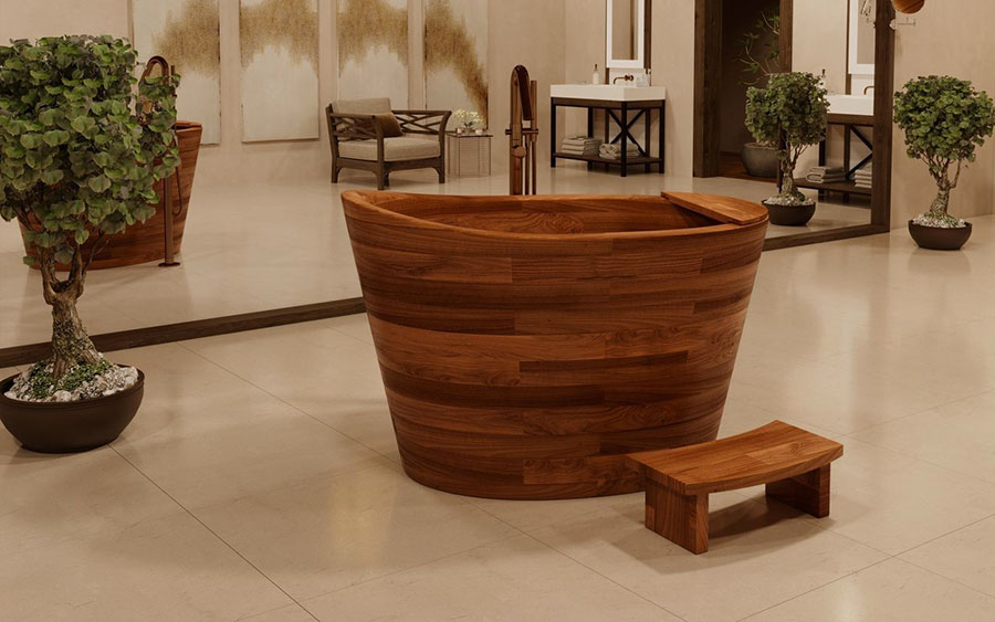 Aquatica Wood Bathtub Model # 02