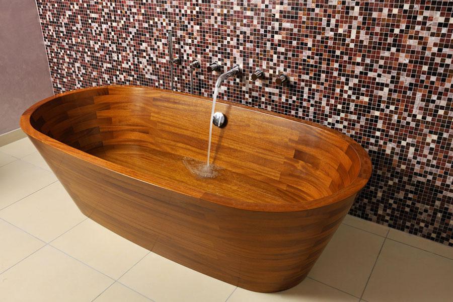 Wooden bathtub model Image n.02