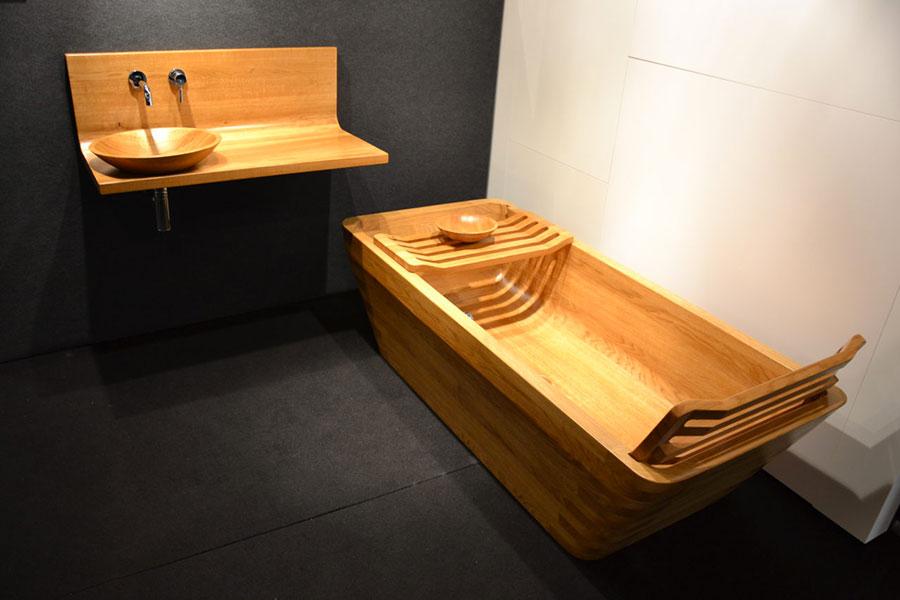 Wooden bathtub model Image n.03