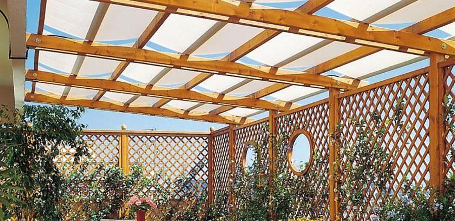 Wooden pergola for gardens or terraces n.08