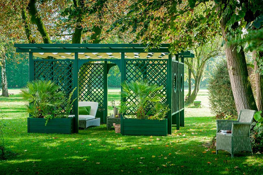 Wooden pergola for gardens or terraces n.07