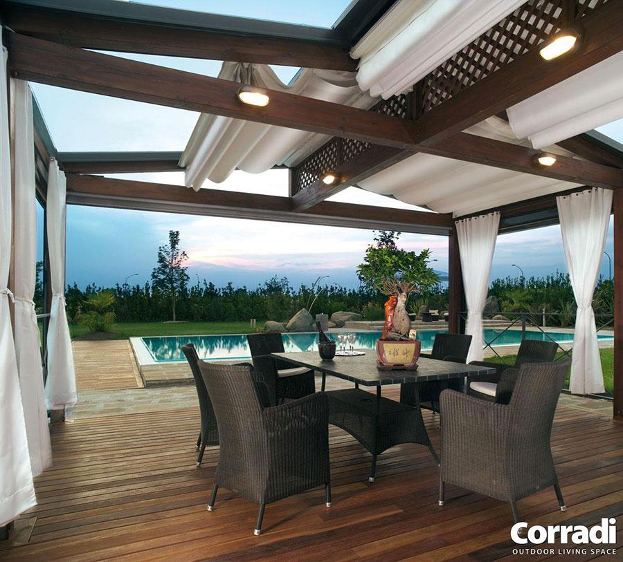 Wooden pergola for gardens or terraces n.03